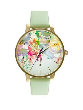 ted-baker-ted-baker-floral-dial-mint-green-strap-ladies-watch