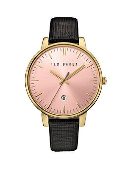 ted-baker-ted-baker-pink-dial-black-leather-strap-ladies-watch