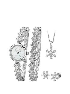sekonda-silver-tone-snowflake-watch-bracelet-pendant-and-earring-gift-set