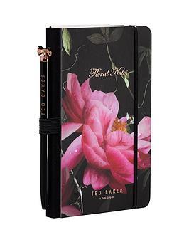 ted-baker-ted-baker-black-citrus-bloom-mini-notebook-amp-pen