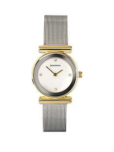 sekonda-white-dial-silver-tone-mesh-ladies-watch