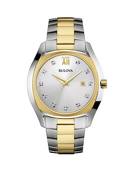 bulova-bulova-mother-of-pearl-dial-silver-and-rose-two-tone-ladies-bracelet-watch