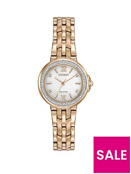 citizen-citizen-eco-drive-silhouette-diamond-white-dial-stainless-steel-rose-gold-tone-bracelet-ladies-watch