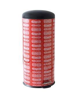 salter-30-litre-retro-dahlia-pedal-bin