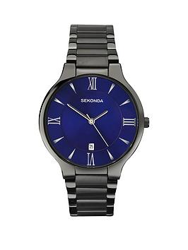 sekonda-blue-dial-gun-metal-tone-bracelet-mens-watch