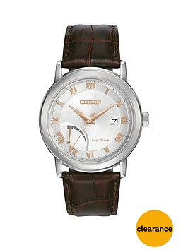 citizen-citizen-eco-drive-power-reserve-silver-tone-dial-brown-leather-strap-mens-watch