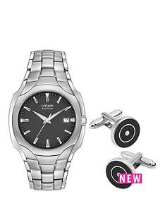 citizen-citizen-eco-drive-black-dial-stainless-steel-watch-amp-cufflink-gift-set