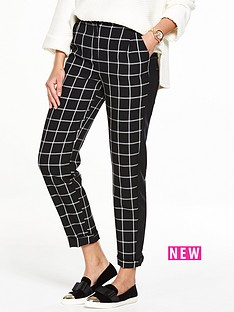 v-by-very-window-pane-tapered-leg-trouser
