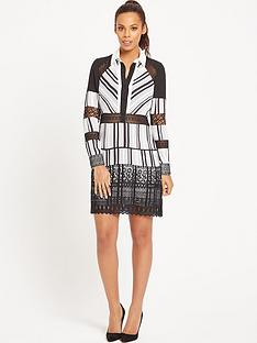 rochelle-humes-stripe-tunic-lace-insertnbspdress