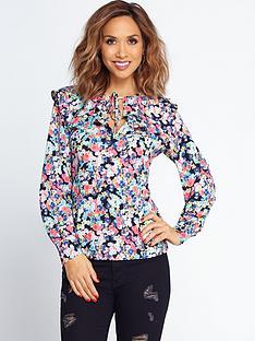 myleene-klass-tie-front-bib-blouse