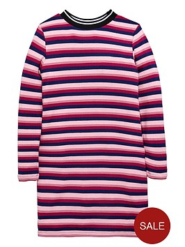 v-by-very-girls-striped-ribbed-dress