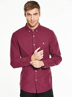 v-by-very-long-sleeve-brushed-oxford-shirt-burgundy