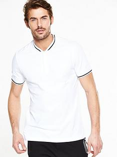v-by-very-short-sleeve-baseball-collar-polo