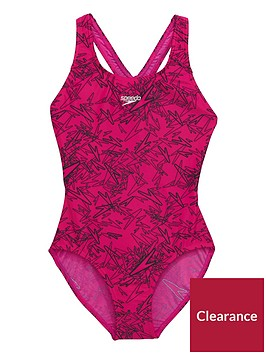 speedo-girls-boom-allover-splashback-swimsuit-pinkblacknbsp