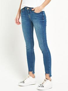 river-island-amelie-jeans-with-cut-hem-mid-wash