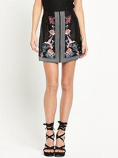 river-island-embroidered-mini-skirt-black
