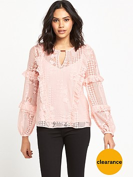 river-island-long-sleeve-frilly-blouse-pink