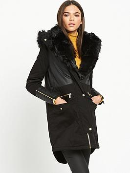 river-island-parka-with-faux-fur-trim-black