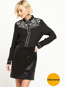 river-island-long-sleeve-cutwork-shirt
