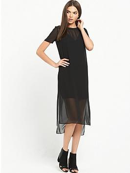 river-island-black-pocket-dress