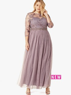 little-mistress-curve-long-sleeve-lace-front-maxi-dress-grey