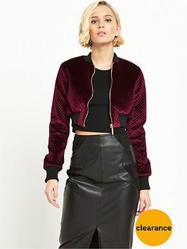 river-island-cropped-velvet-bomber-jacket-burgundy