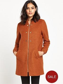river-island-zip-front-bomber-coat-amber