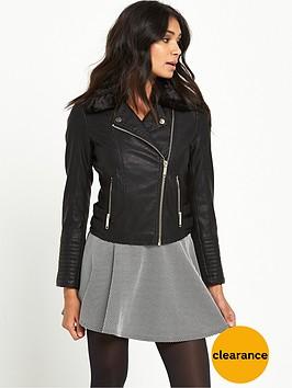 miss-selfridge-petite-fur-faux-collar-pu-jacket-black