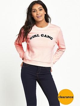 miss-selfridge-petitenbspgirl-gang-sweatshirt-pink