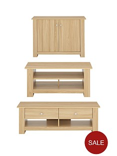 milanonbsp3 piece package tv unit coffee table and compact sideboard