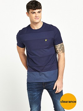 lyle-scott-reverse-stripe-t-shirt