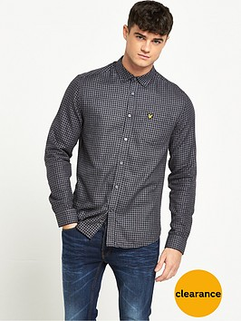 lyle-scott-mouline-long-sleeve-gingham-shirt
