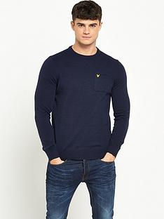 lyle-scott-pocket-detail-crew-neck-jumper