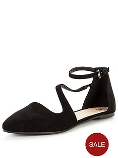 v-by-very-halle-pointed-asymmetric-flat-shoe