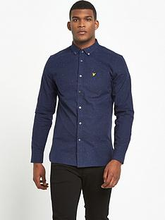 lyle-scott-brushed-fleck-long-sleeve-shirt
