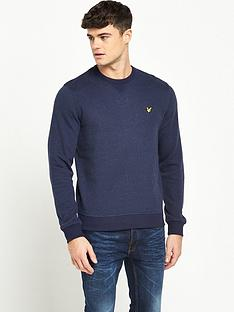 lyle-scott-brushed-flecked-crew-neck-sweatshirt