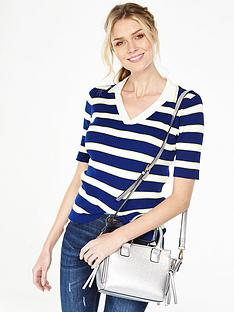v-by-very-fine-knit-stripe-collared-jumper