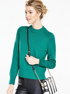 v-by-very-crew-neck-short-fitted-jumper