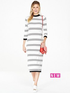 v-by-very-textured-stripe-column-midi-dress