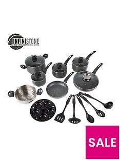 tower-9-piece-coated-pan-set-graphit-with-free-utensil-set