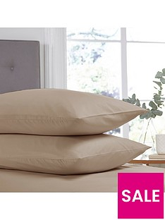 silentnight-easy-care-180-thread-count-cotton-rich-standard-pillowcases-pair-stone