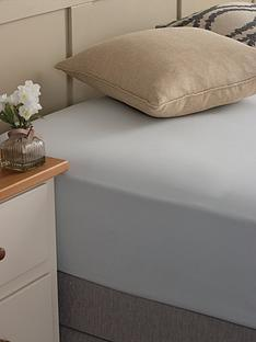 silentnight-easycare-180-thread-count-cotton-rich-double-size-fitted-sheet--nbspsilver