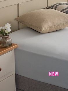 silentnight-easycare-180-thread-count-cotton-rich-king-size-fitted-sheet-silver