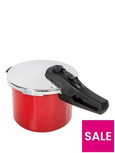 morphy-richards-chroma-5-litre-pressure-cooker-in-red