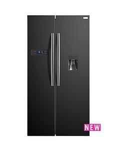 russell-hobbs-rh90ff176b-wd-176cm-high-90cm-wide-american-style-fridge-freezer-with-water-dispenser