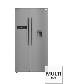 russell-hobbs-rh90ff176ss-wd-90cm-wide-american-style-freestanding-fridge-freezer