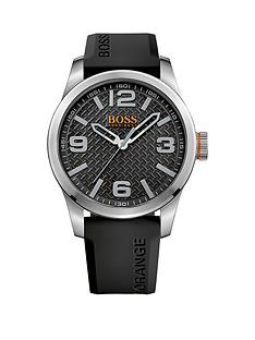 hugo boss mens watches gifts jewellery very co uk hugo boss hugo boss paris black dial black silicone strap mens watch