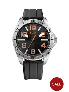 hugo-boss-black-dial-black-silicone-strap-mens-watch