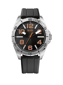 hugo-boss-black-dial-black-silicone-strap-mens-watch