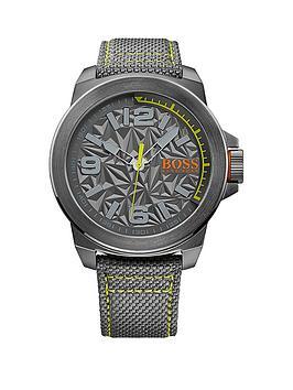 Hugo Boss Hugo Boss Grey Dial Green Accent Grey Strap Mens Watch, One Colour, Men thumbnail